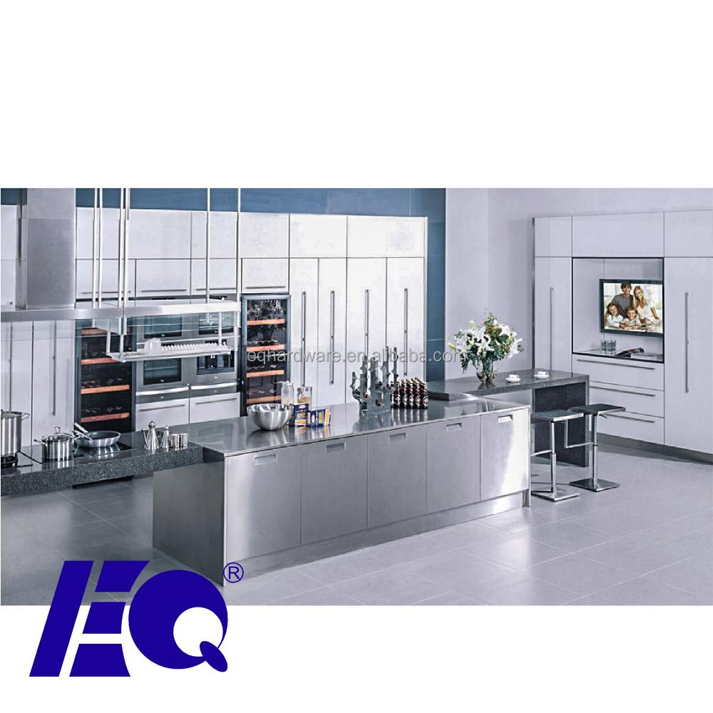 Stainless Steel Modular Kitchen Cabinets Chandigarh: 304 Cozinha De Aço Inoxidável Modular Gabinete