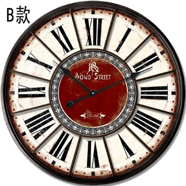 relojes de cocina reloj pared vintage wall sticker clock vintage wanduhr wandklok orologio. Black Bedroom Furniture Sets. Home Design Ideas