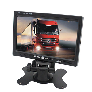 Factory Waterproof 12-24V stand alone dashboard 7 inch LCD car monitor with 2 way input