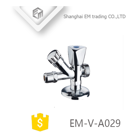 EM-V-A029 Brass polishing chrome plated One inlet and three outlet Angle valve