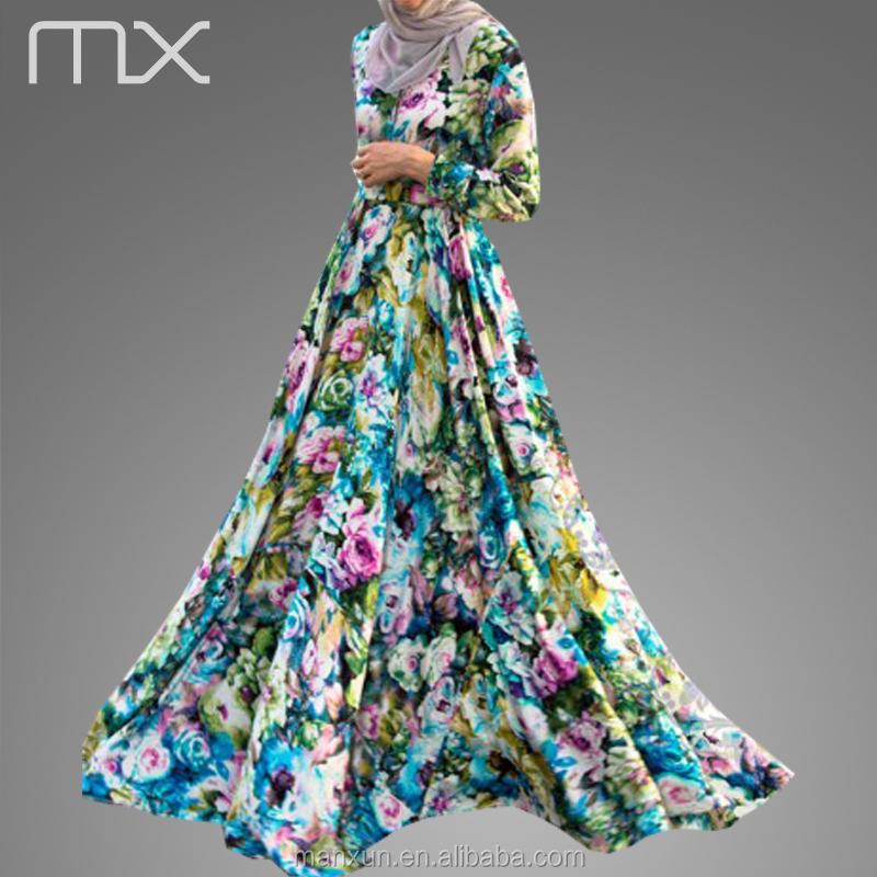 c80fe484e15ce New Style Wedding Dress Abaya Floral Design Moroccan Kaftan Fashion Dubai  Bridal Long Sleeves Dre