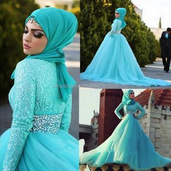 Nw1152 Muslim Mint Hijau Pernikahan Gaun Renda Appliques Gaun Pengantin Lengan Panjang Kustom Buy Mint Hijau Pernikahan Gaun Muslim Lengan Panjang