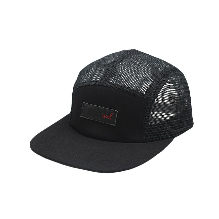 fe44f4727de8a7 Fashion 5-panel foam mesh trucker cap flat brim rollips korea mesh cap