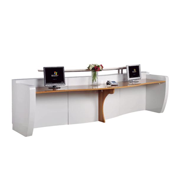 Receptionist Desk For Sale: Modern White Curved Reception Desk,Front Desk On Sale