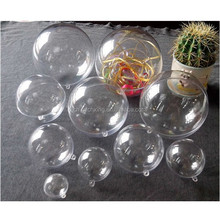 Plastic Round Ball Christmas Clear Bauble Ornament Gift Present Xmas Tree Craft