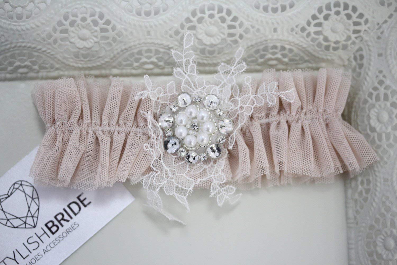 Blush Wedding garter 2017, Blush Wedding garter, Blush bridal garter, Blush bridal garters, Pink Tulle Bridal Garter, Pink Bridal Garter