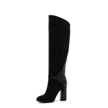 women's high quality middle heel snow knee boots