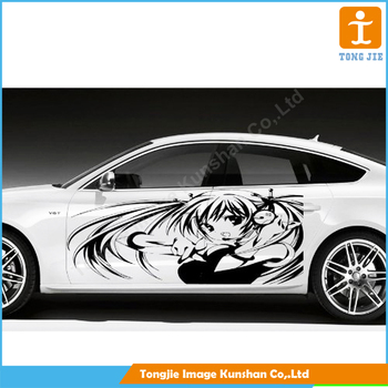 Customized pvc vinyl car sticker car body side sticker design