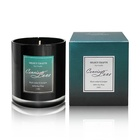 New Fashion Unique Soy Wax aroma black glass Decorative Luxury scented candle