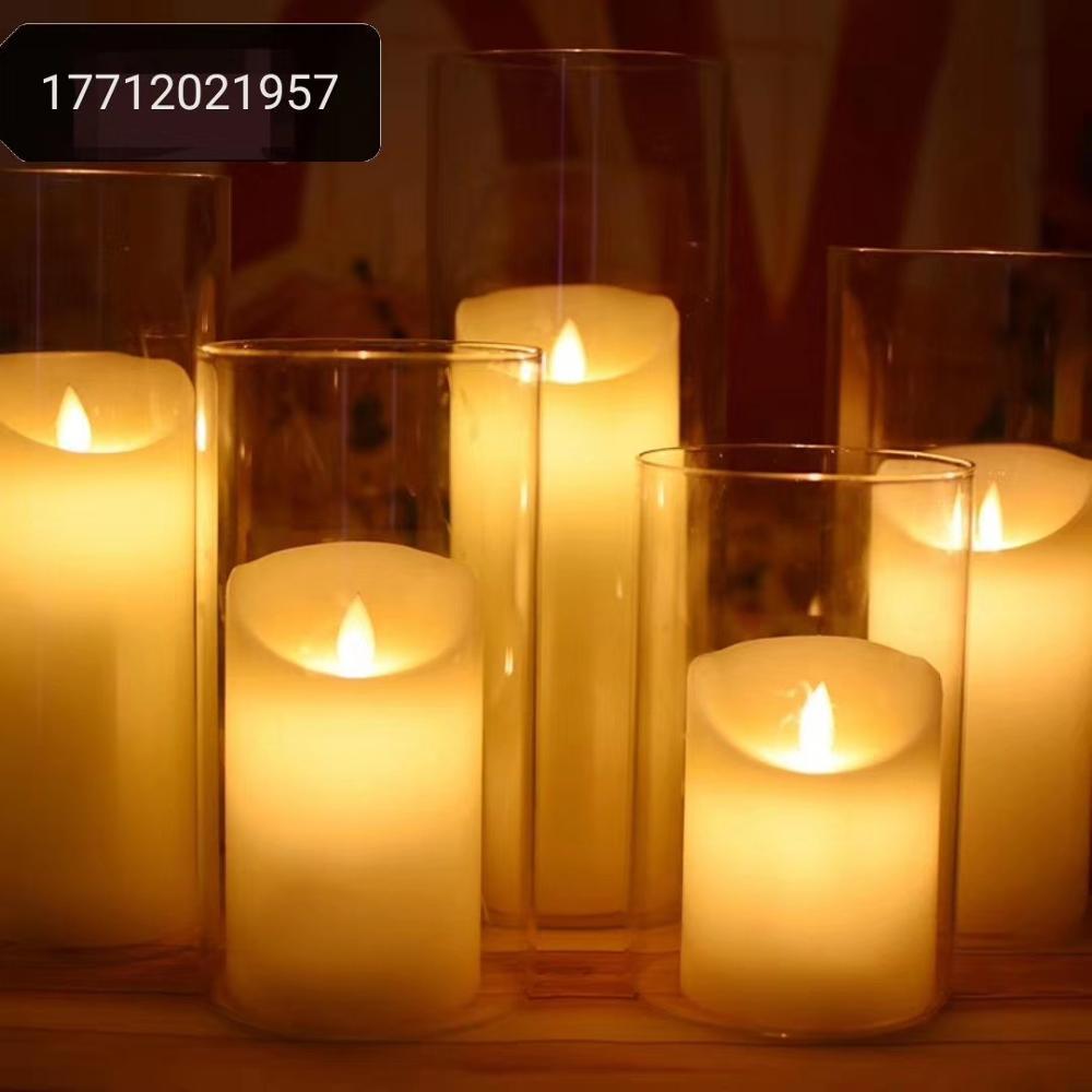 Portacandele in metallo dorato a 7 rami con candela decorata a mano e stella YU FENG