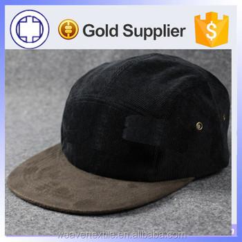 11b83ade267 Custom Blank Corduroy Snapback Hat With Suede   Wholesale 5 Panel ...