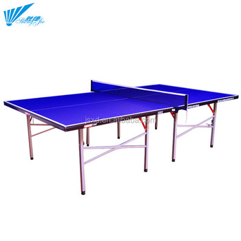 Standard Size Indoor Using Single Folded 15MM Adjustable Height Table  Tennis Table