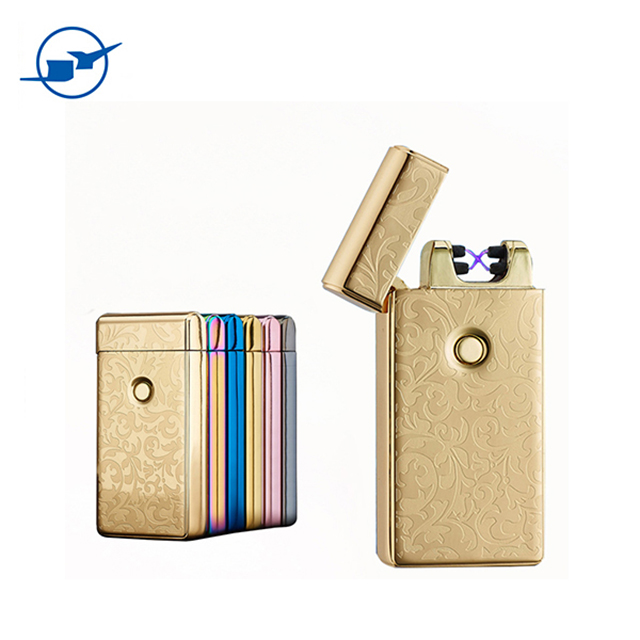 Thin Electric Lighter USB Flameless Cigar Torch Cigarette Lighters Present
