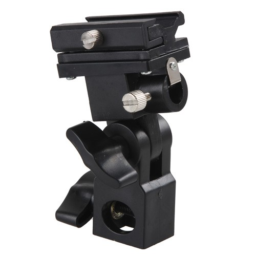 Aluminum Camera flash bracket B for flash holder+umbrella+stand kit