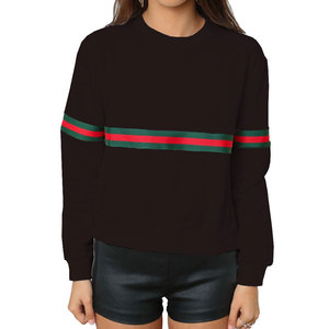 80908-MX104 relaxed young girls long sleeve cross stripe tops