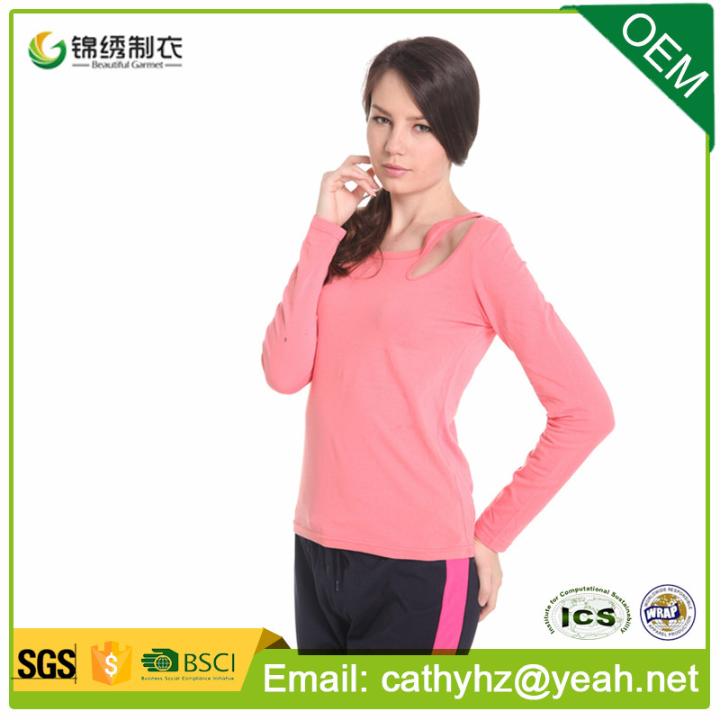 100% cotton knitted fashion pajamas, knitted summer fashion T-shirt