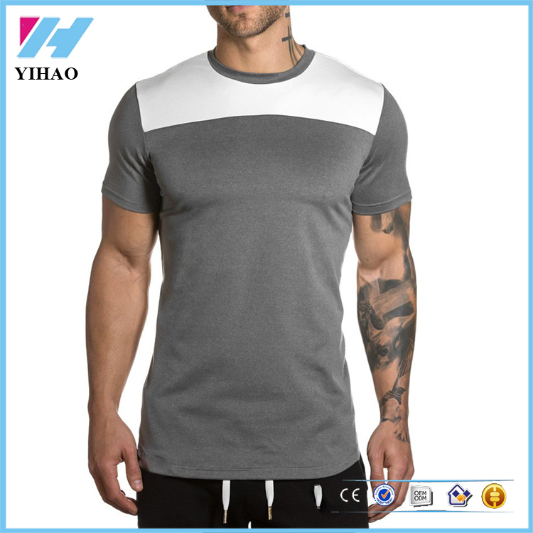 China Wholesale mens apparel high quality t shirt Custom Fitness clothing running mens wear