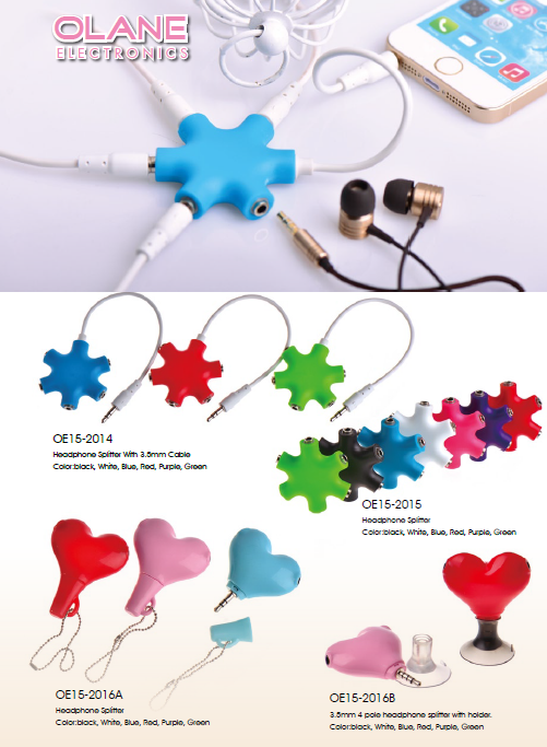 3.5mm Audio  Splitter For earphone