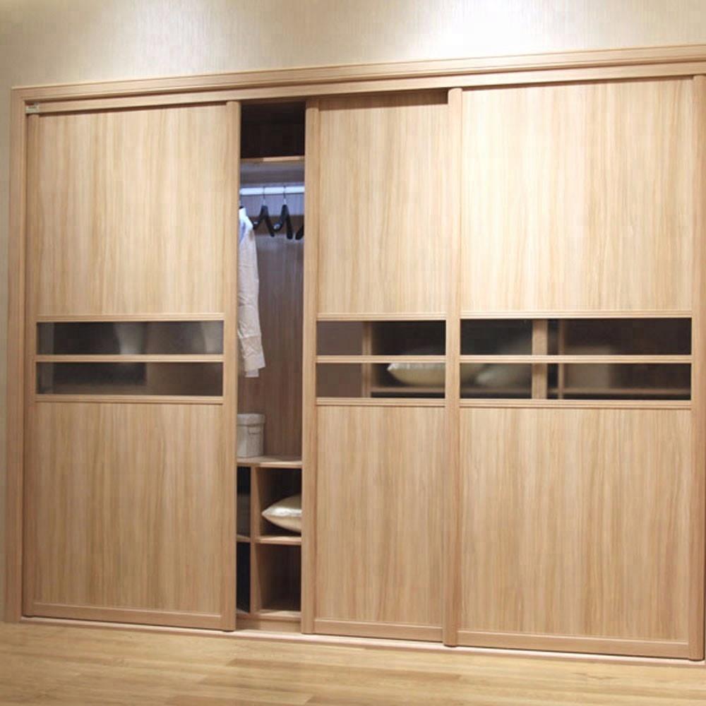 Di alta qualità armadio camera da letto con un design specchio in scorrevole 2 accessori per porte sistema di laminato disegni