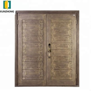 Cast aluminum plate single leaf bulletproof entry doors