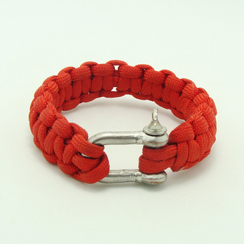 Hot Self Rescue Bracelet With Red Parachute And Metal On