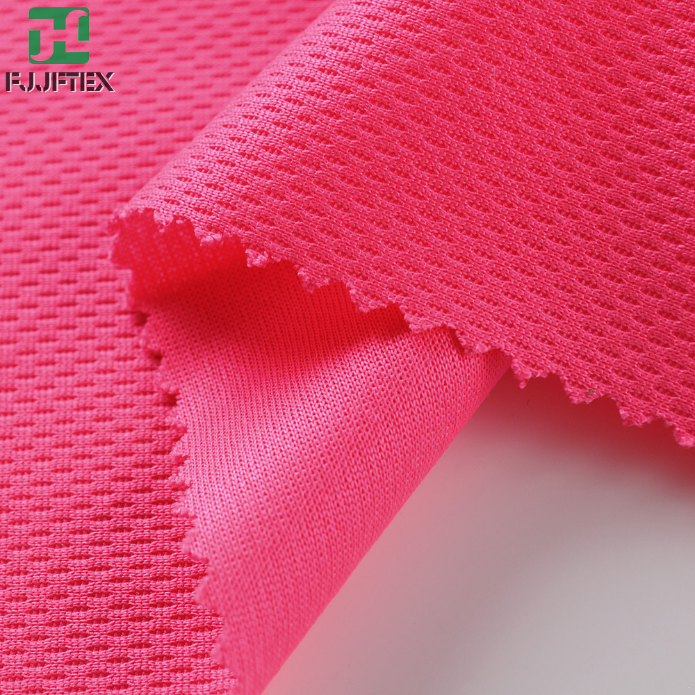 100% polyester knitting fabric bird eye mesh polyester sports fabric