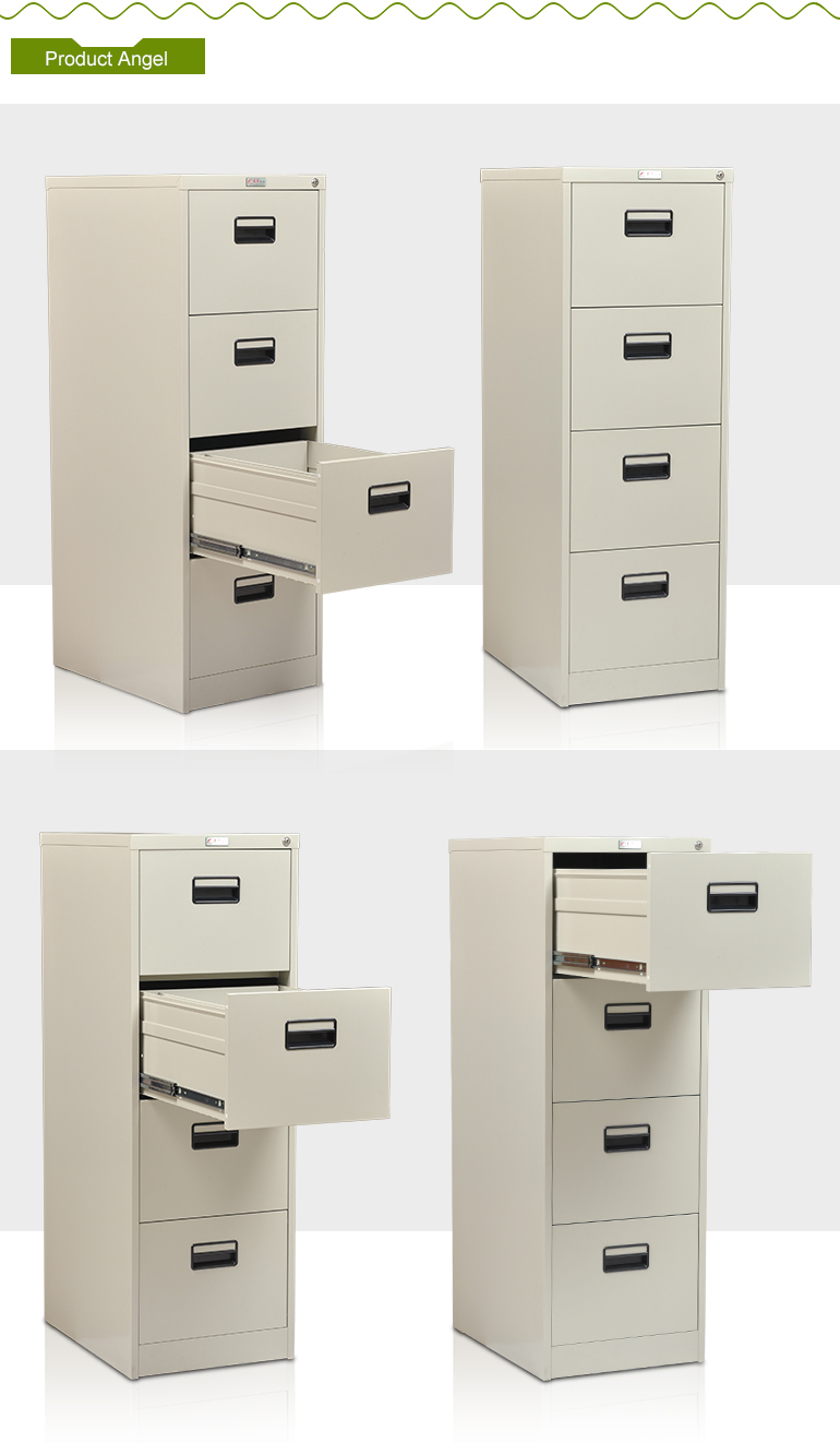 Hot Selling Acrylic Disassemble Metal 4 Drawer Steel Filing Cabinet