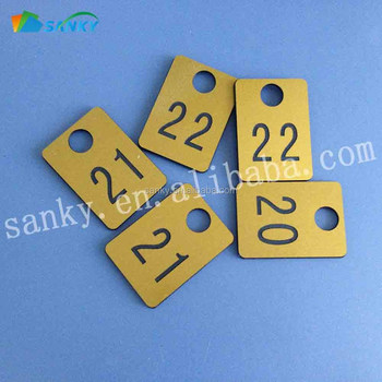 Engraved Plastic Abs 2 Sides Engraving Coat Room Tags
