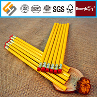 Student High Quality Modern Yellow Pole HB Pencil With Eraser
