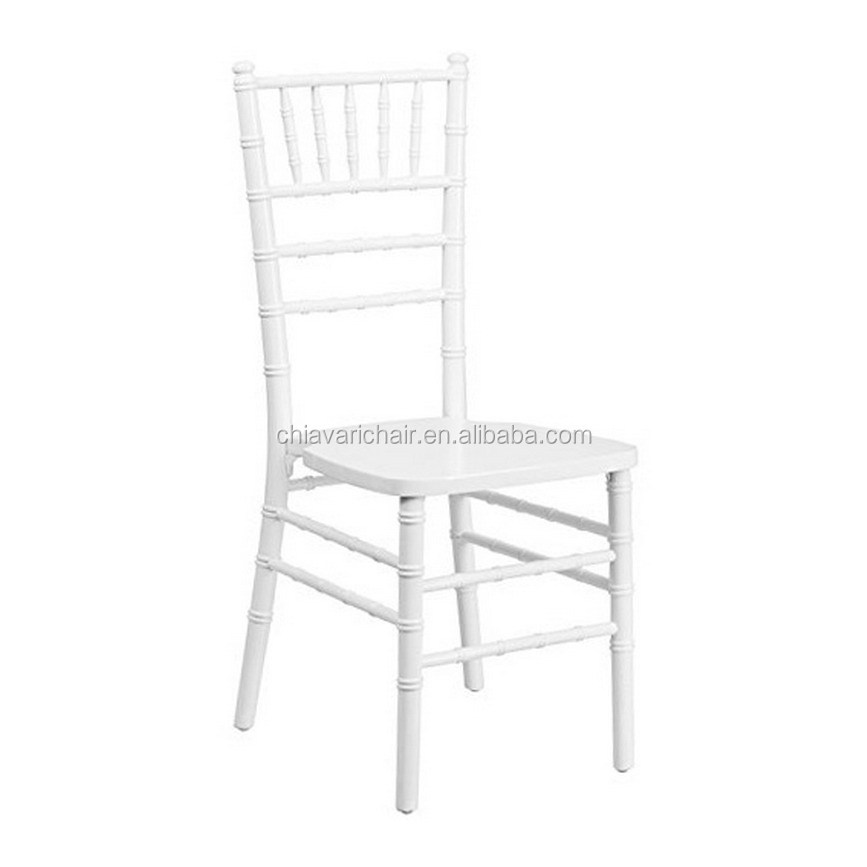 W-CV-U03 White Color Solid Wood Chavari Wedding Chair for Hotel