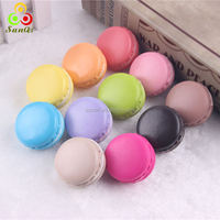 Jumbo Multi-color Macaron squishy charms,4cm,5cm,8cm in diameter/9 colors in stock