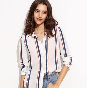 YPD 8020 2019 Summer Women Fashion Loose Striped Tops and Blouses