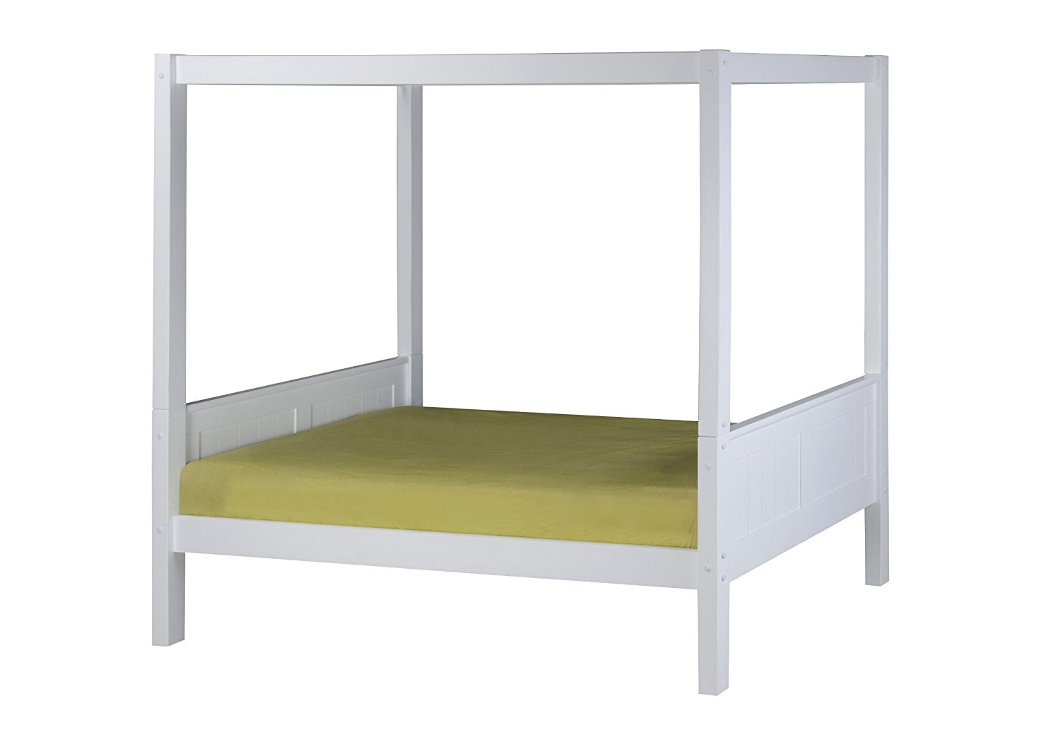 Get Quotations Camaflexi Panel Style Solid Wood Canopy Bed Twin White