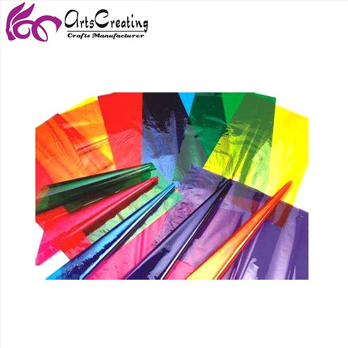 Großhandel farbigen zellophan papier blätter als geschenk verpackung