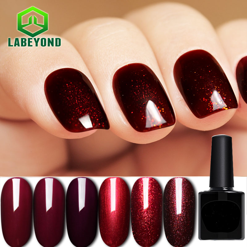 New Cat Eye Wine Red Color Nail Art Design With Base Coat And Top Coat Uv Gel Nail Polish Buy New Cat Eye Color Nail Art Design Base Coat And Top