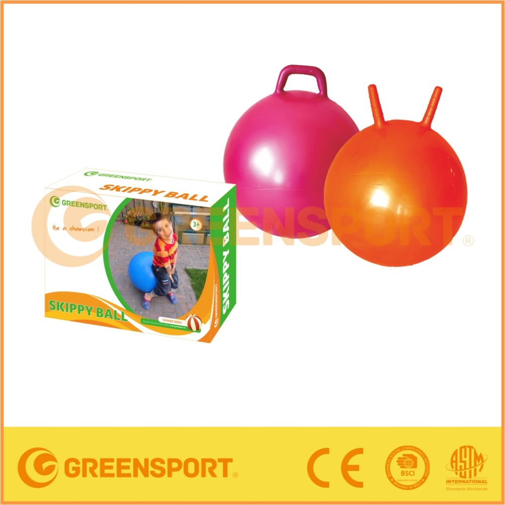 GS5003 kids high gym PVC bouncy ball with handle