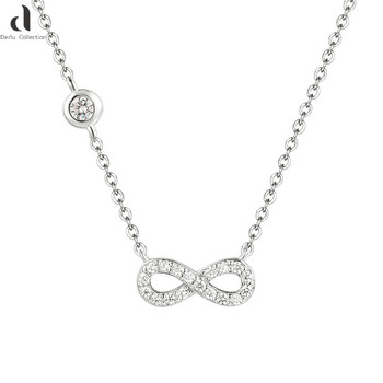 858787ada57 2018 best selling sterling silver necklace for ladies,elegant 8-shaped 925 sterling  silver
