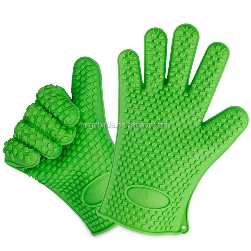 Non stick silicone glove/silicone oven gloves for oven cooking/silicone baking glove for bakery