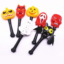 New Fashion Halloween Party Decoration LED Magic Stick Pumpkim Light Wand Sticks Toys For Kids