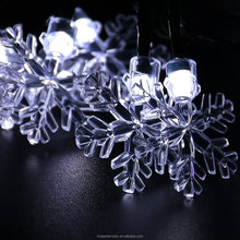 solar snowflake string light outdoor waterproof decorative