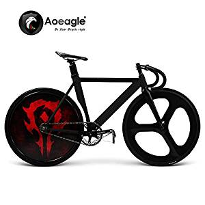 700C Cool Fixed Gear Bike, Road Bike, Racing Bike, Flash Bicycle, Aluminum Alloy Muscle Frame, Shiny Rear Wheel, Carbon Fiber Fork & Front Wheel