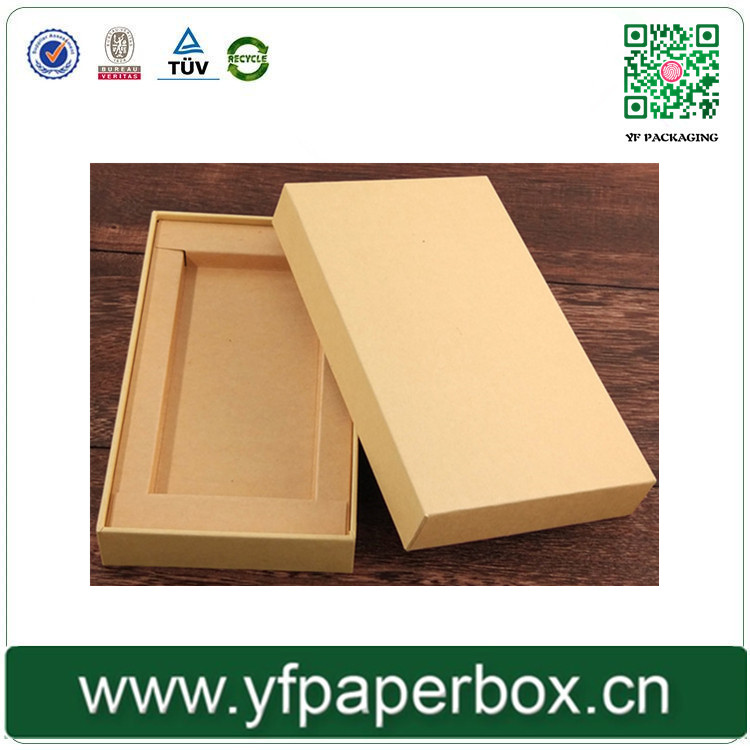 products made recycled materials kraft paper mobile phone gift box with competitive price