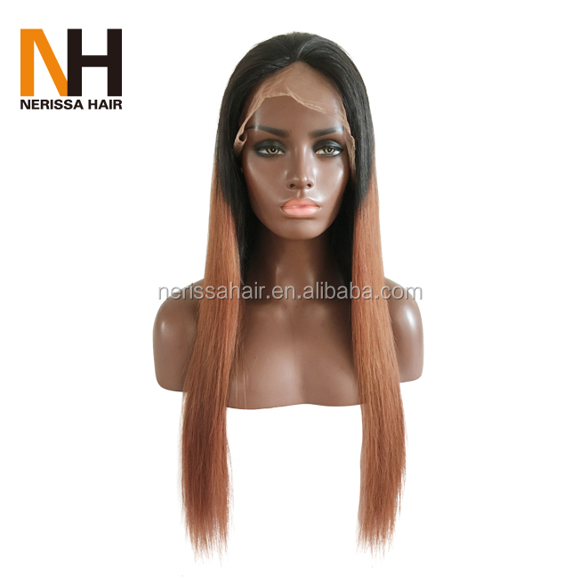 Wholesale 20 inch brazilian virgin lace front human hair wig