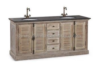 Antique Wholesale Commercial Rustic Wood Bathroom Vanities
