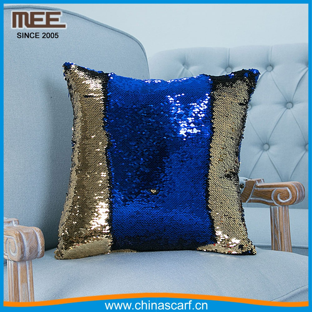 Magic sequins Mermaid Pillow Cover /Reversible Sequin Fabric Color Changing 2 color exchange pillow cover