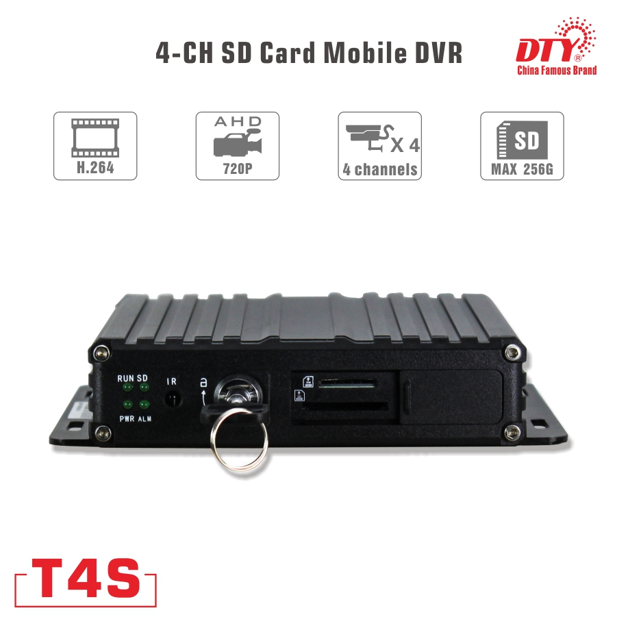 New hi-tech Cheap 3g wifi gps mdvr/ H.264 CMSV6 CMS 4ch free client software security mobile cctv dvr