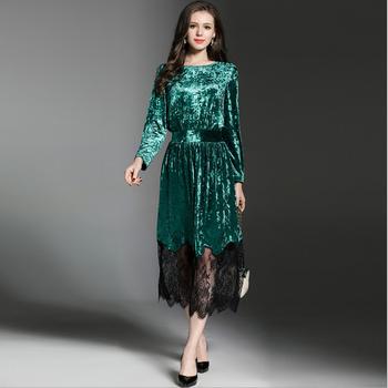 82c0ff5dae9 WE1849 дизайн Элегантный для женщин с длинным рукавом пышные блестящие вечерние  платья