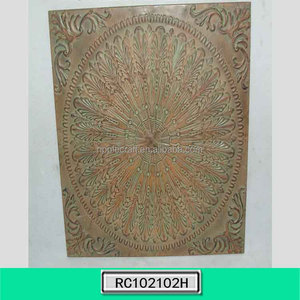 Wrought Iron Embossed Art Wall Hangings