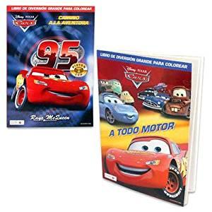 DISNEY PIXAR CARS SPANISH COLORING BOOKS 4 ASSORTED COLORING BOOKS, Case of 72