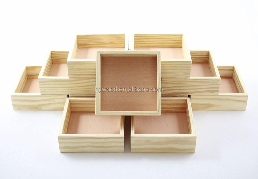 fabricant chinois la main pas cher fantaisie bois de pin inachev e cadeau bo te en bois sans. Black Bedroom Furniture Sets. Home Design Ideas
